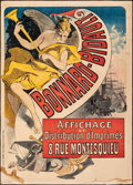 "Movie Posters:Miscellaneous, Bonnard Bidault (1887). Fine- on Chartex. French Advertising Poster (34.5"" X 48.5"") Jules Cheret Artwork. Miscellaneous.. ..."