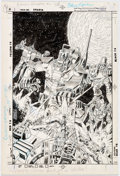 Original Comic Art:Covers, Mike Manley and Murphy Anderson Robotech Defenders #2 Cover Original Art (DC, 1985)....