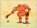 Original Comic Art:Paintings, Rotsler (attributed) - Robot Painting Original Art (undated)....