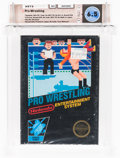 Video Games:Nintendo, Pro Wrestling [First Release] Wata 6.5 CIB NES, Nintendo, 1987, USA....