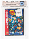 Video Games:Sega, Justice League Task Force [Assembled in Mexico] Wata 9.4 A Sealed Genesis, Acclaim, 1995, USA. ...