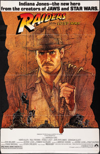 """Raiders of the Lost Ark (Paramount, 1981). Folded, Very Fine/Near Mint. Die-Cut Standee (37.5"""" X 57.5"""") in Ori..."""