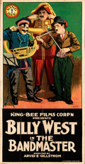"""Movie Posters:Comedy, The Band Master (King Bee, 1917). Folded on Kraft Paper, Fine-. Three Sheet (41"""" X 79.5"""") W. Layman Artwork.. ..."""