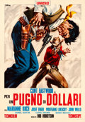 "Movie Posters:Western, A Fistful of Dollars (United Artists, 1964). Fine/Very Fine on Linen. Italian 4 - Fogli (54.75"" X 77.5"") Sandro Simeoni Artw..."