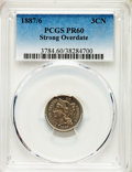 Proof Three Cent Nickels, 1887/6 3CN Strong Overdate PR60 PCGS. PCGS Population: (4/514). NGC Census: (1/403). CDN: $400 Whsle. Bid for problem-free ...