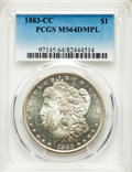 1883-CC $1 MS64 Deep Mirror Prooflike PCGS. PCGS Population: (1462/985). NGC Census: (578/240). CDN: $510 Whsle. Bid for...
