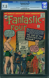Fantastic Four #9 (Marvel, 1962) CGC VF- 7.5 Cream to off-white pages