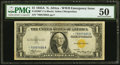 Small Size:World War II Emergency Notes, Fr. 2306* $1 1935A North Africa Silver Certificate Star. PMG About Uncirculated 50.. ...