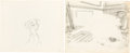 Animation Art:Production Drawing, 101 Dalmatians Production Drawing and Background Layout (Walt Disney, 1961).. ... (Total: 2 O...