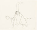 Animation Art:Production Drawing, The Sword and the Stone Signed Merlin Production Drawing (Walt Disney. 1963).. ...