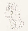 Animation Art:Production Drawing, Lady and the Tramp Lady Production Drawing (Walt Disney, 1955).. ...