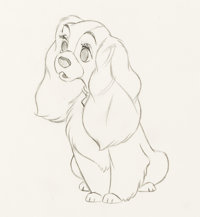 Lady and the Tramp Lady Production Drawing (Walt Disney, 1955)