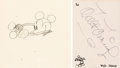 Animation Art:Production Drawing, Steamboat Willie Mickey Mouse Animation Drawing with Walt Disney Signature (Walt Disney, 1928). ...