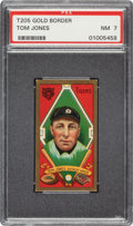 Baseball Cards:Singles (Pre-1930), 1911 T205 Gold Border Tom Jones PSA NM 7 - Only One Higher. ...