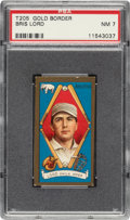 Baseball Cards:Singles (Pre-1930), 1911 T205 Gold Border Bris Lord (Athletics) PSA NM 7 - Only One Higher. ...