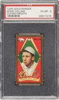Baseball Cards:Singles (Pre-1930), 1911 T205 Gold Border Eddie Collins (Closed Mouth) PSA EX-MT 6. ...