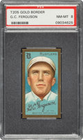Baseball Cards:Singles (Pre-1930), 1911 T205 Gold Border G.C. Ferguson PSA NM-MT 8 - Pop Two, None Higher. ...