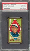 Baseball Cards:Singles (Pre-1930), 1911 T205 Gold Border Jiggs Donahue PSA NM-MT 8 - Pop Three, None Higher. ...