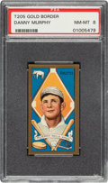 Baseball Cards:Singles (Pre-1930), 1911 T205 Gold Border Danny Murphy PSA NM-MT 8 - The Finest Graded Example In the Hobby! ...