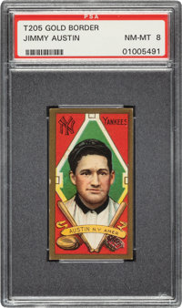 1911 T205 Gold Border Jimmy Austin PSA NM-MT 8 - Pop Two, None Higher