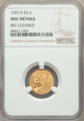 1925-D $2 1/2 -- Reverse Cleaned -- NGC Details. UNC. NGC Census: (200/19639). PCGS Population: (254/13011). MS60. Minta...