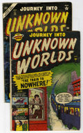 Golden Age (1938-1955):Horror, Journey Into Unknown Worlds #4 and 29 Group (Atlas, 1950-54)Condition: Average FR.... (Total: 2)