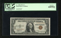 Small Size:World War II Emergency Notes, Fr. 2300 $1 1935A Hawaii Silver Certificate. PCGS Gem New 65PPQ.. This note is broadly margined and no wear is detected thro...