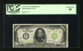 Small Size:Federal Reserve Notes, Fr. 2211-F $1000 1934 Light Green Seal Federal Reserve Note. PCGS Extremely Fine 45.. Traces of embossing can be seen throug...