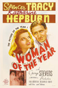 "Movie Posters:Comedy, Woman of the Year (MGM, 1942). One Sheet (27"" X 41"") Style C.Katharine Hepburn and Spencer Tracy were paired for the first ..."