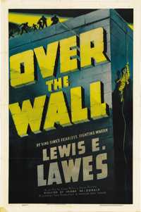 "Over the Wall (Vitagraph, 1938). One Sheet (27"" X 41""). This drama was adapted from a story by Warden Lewis E..."