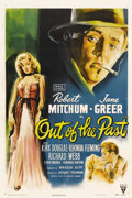 "Movie Posters:Film Noir, Out of the Past (RKO, 1947). One Sheet (27"" X 41""). Director Jacques Tourneur cast Robert Mitchum in the quintessential fi..."