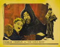 """The Gold Rush (United Artists, 1925). Lobby Card (11"""" X 14""""). Charlie Chaplin took fourteen months to complete..."""