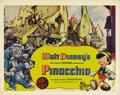 "Movie Posters:Animated, Pinocchio (RKO, 1940). Half Sheet (22"" X 28"") Style A. Walt Disney's classic story of a little puppet that wants to be a rea..."