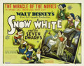 "Movie Posters:Animated, Snow White and the Seven Dwarfs (RKO, 1937). Half Sheet (22"" X 28"") Style B. This film was a huge success that not only save..."