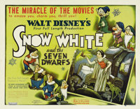 "Snow White and the Seven Dwarfs (RKO, 1937). Half Sheet (22"" X 28"") Style B. This film was a huge success that..."