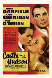 "Castle on the Hudson (Warner Brothers, 1940). One Sheet (27"" X 41""). Essentially a remake of ""20,000 Year..."