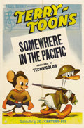 "Movie Posters:Animated, Terry-Toons: Somewhere in the Pacific (20th Century Fox, 1944). OneSheet (27"" X 41""). During the 1940s, America's war effor..."