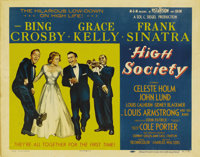 """High Society (MGM, 1956). Half Sheet (22"""" X 28"""") Style B. This musical remake of """"The Philadelphia Story&..."""