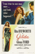 "Movie Posters:Film Noir, Gilda (Columbia, 1946). One Sheet (27"" X 41"") Style A. Thissmoldering tale of passion and betrayal stars Rita Hayworth and ..."