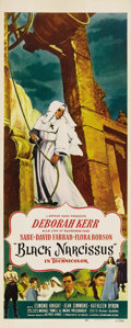 "Movie Posters:Drama, Black Narcissus (Universal, 1947). Insert (14"" X 36""). Deborah Kerrstars in this British production by the team of Michael ..."
