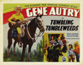 "Movie Posters:Western, Tumbling Tumbleweeds (Republic, 1935). Half Sheet (22"" X 28""). GeneAutry, the singing sensation of the radio airwaves made ..."