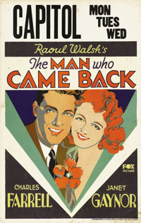 "The Man Who Came Back (Fox, 1931). Window Card (14"" X 22""). It's a hard, uphill climb from the dregs of a Shan..."