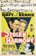 """Movie Posters:Crime, Stolen Harmony (Paramount, 1935). Window Card (14"""" X 22""""). GeorgeRaft grew up in a poor family in """"Hell's Kitchen,"""" one of ..."""