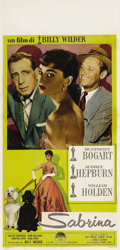 "Movie Posters:Romance, Sabrina (Paramount, 1954). Italian Locandina (13"" X 27""). AudreyHepburn gave one of the best performances of her career in ..."