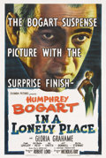 "Movie Posters:Film Noir, In a Lonely Place (Columbia, 1950). One Sheet (27"" X 41""). HumphreyBogart portrays a self-destructive screenwriter in Nicho..."