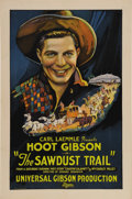 "Movie Posters:Western, Sawdust Trail (Universal, 1924). One Sheet (27"" X 41""). Hoot Gibson(who started out with the first name of Edmund) enjoyed ..."
