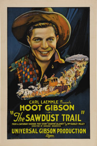 "Sawdust Trail (Universal, 1924). One Sheet (27"" X 41""). Hoot Gibson (who started out with the first name of Ed..."