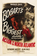 "Movie Posters:War, Action in the North Atlantic (Warner Brothers, 1943). One Sheet(27"" X 41""). War...."