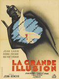 "Movie Posters:War, La Grande Illusion (R.A.C., R-1946). French Petite (23.5"" X 31.5""). Almost seventy years after it was made, ""La Grande Illu..."