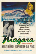 "Movie Posters:Drama, Niagara (20th Century Fox, 1953). One Sheet (27"" X 41""). MarilynMonroe stars in this moody film noir about a newlywed who p..."